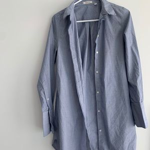 Babaton light blue button down dress shirt. Small
